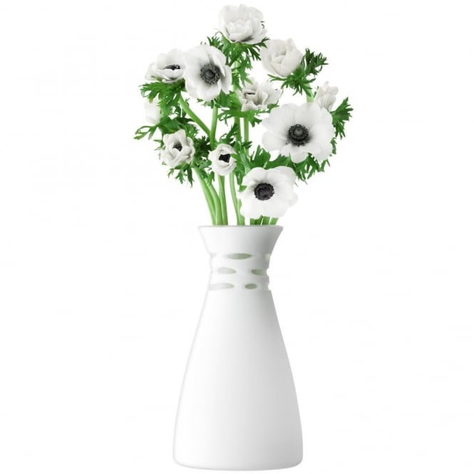 LSA International Crochet Vase - White Matte - 30cm