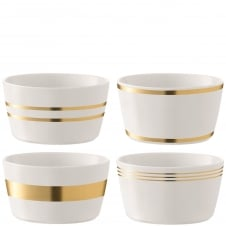 Deco Assorted Bowls - Set of 4 - Gold