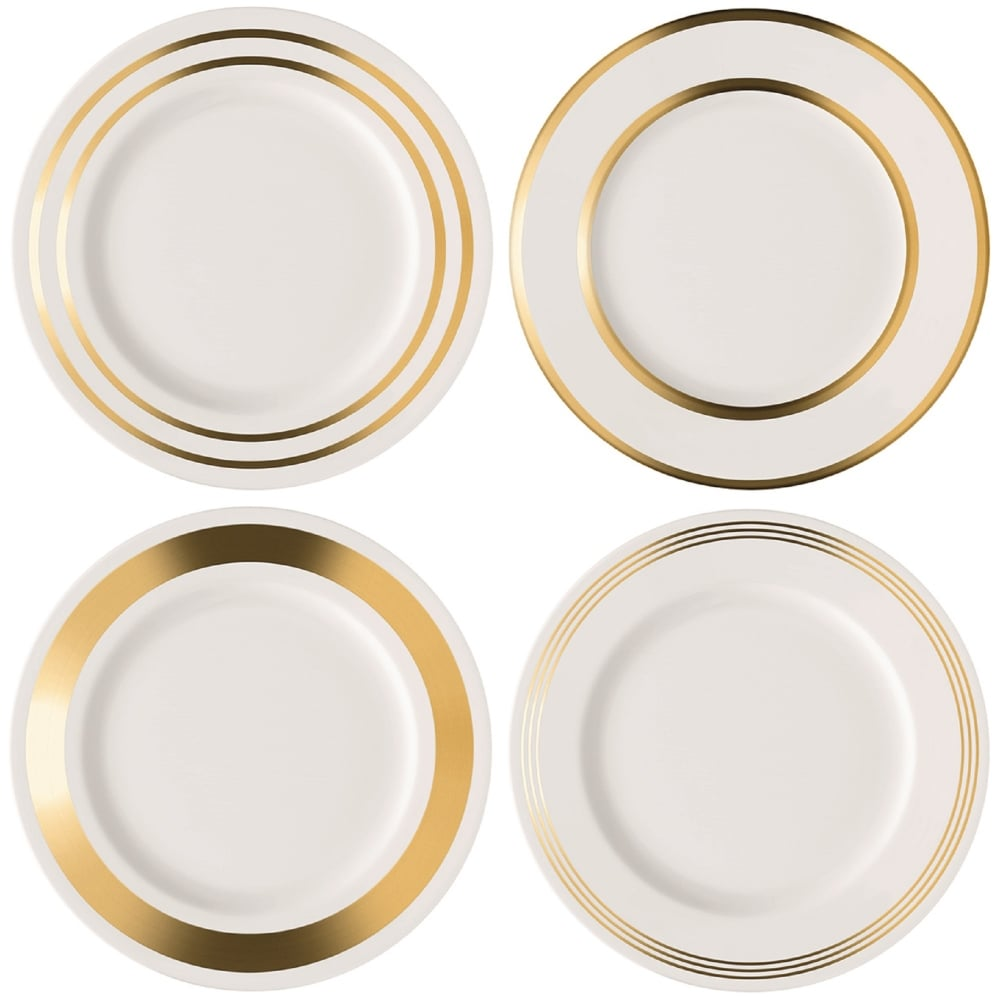 Deco Assorted Dinner Plates - Set of 4 - Gold  sc 1 st  Black By Design & LSA Deco Assorted Dinner Plates | Set of 4 | Gold | Black by Design