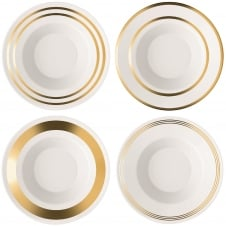 Deco Assorted Soup/Pasta Bowls - Set of 4 - Gold