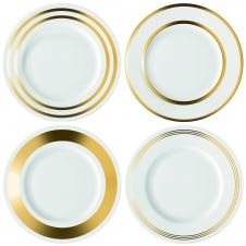 Deco Starter/Dessert Plate - Set of 4 - Gold