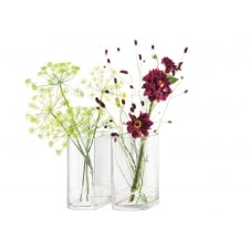 Echo Vase Set of 2 - 24cm high - Clear