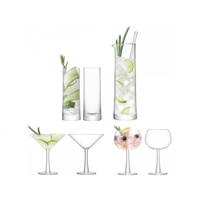 LSA International Gin Cocktail Set - Handmade glass