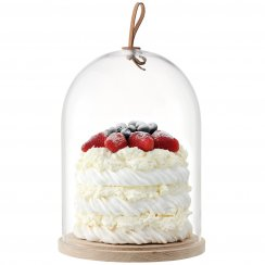 Ivalo Cake/Cheese/Pastries Dome on Ash Base - 22cm
