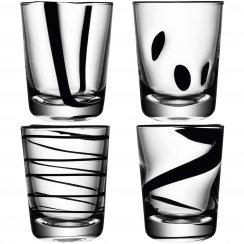 Jazz Glass Tumblers - Set of 4