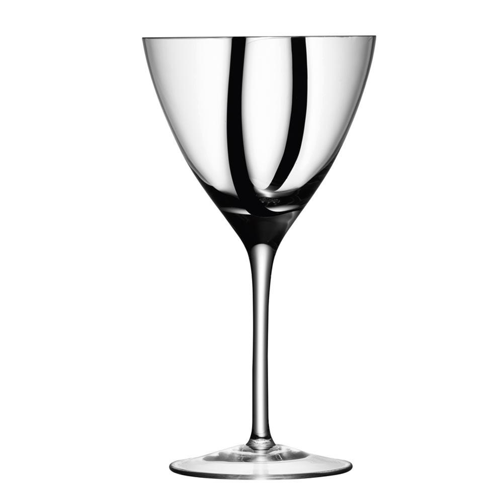 Set Of 4 Lsa Black Jazz Wine Glasses Goblets At Black By