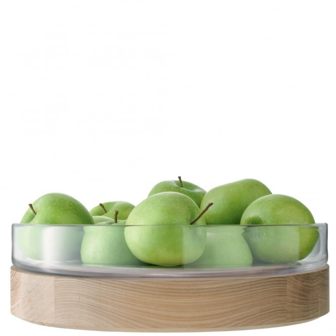 LSA International Lotta Fruit/Salad Bowl with Ash Base - 31cm