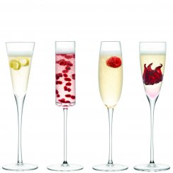 Lulu Champagne Flutes - Set of 4 - Assorted