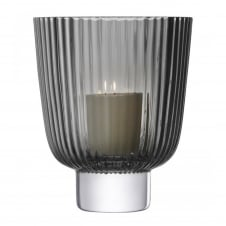 Pleat Storm Lantern - Grey - H21.5cm