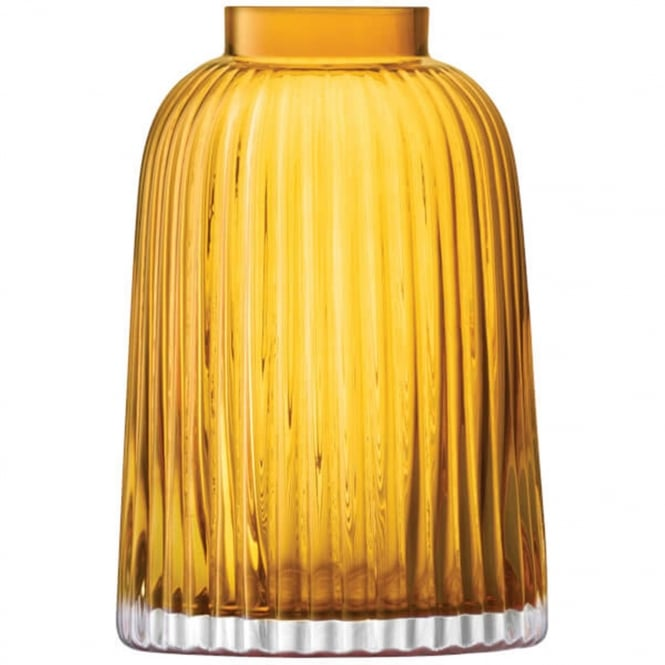 LSA International Pleat Vase - Amber - H26cm