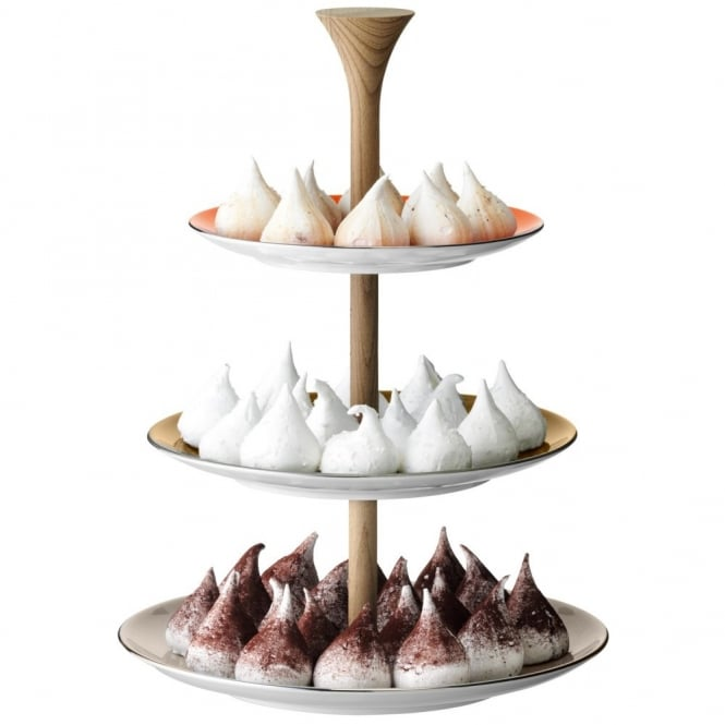 LSA International Polka 3 Tiered Cakestand - Metallics