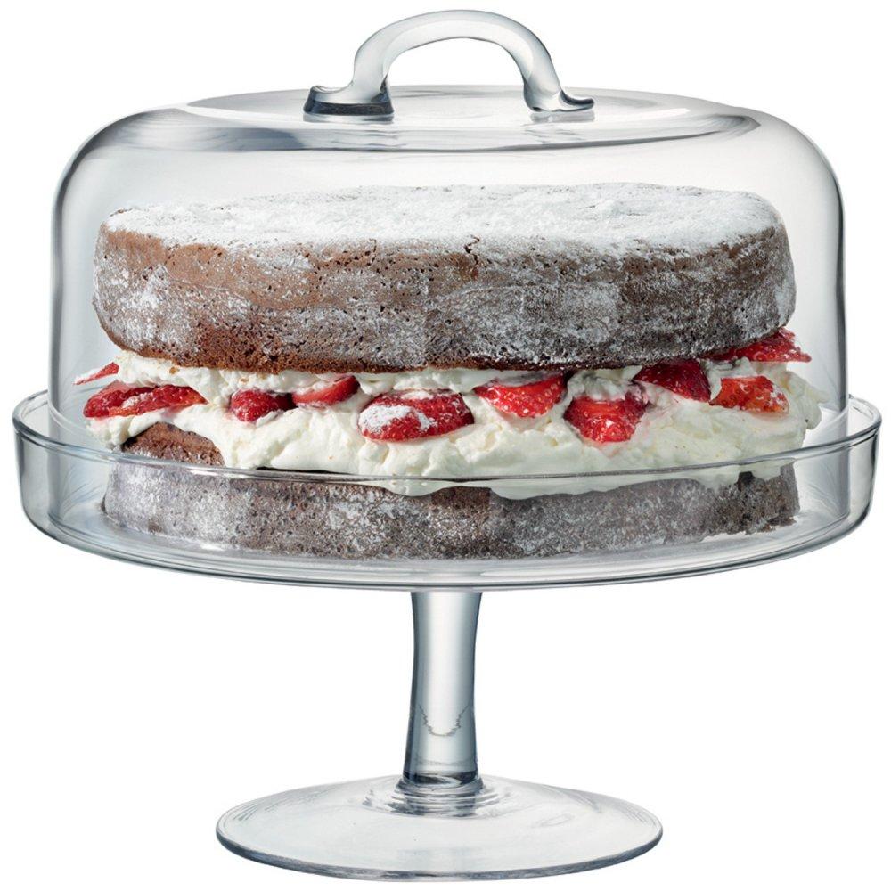 lsa serve glass cake stand dome. Black Bedroom Furniture Sets. Home Design Ideas