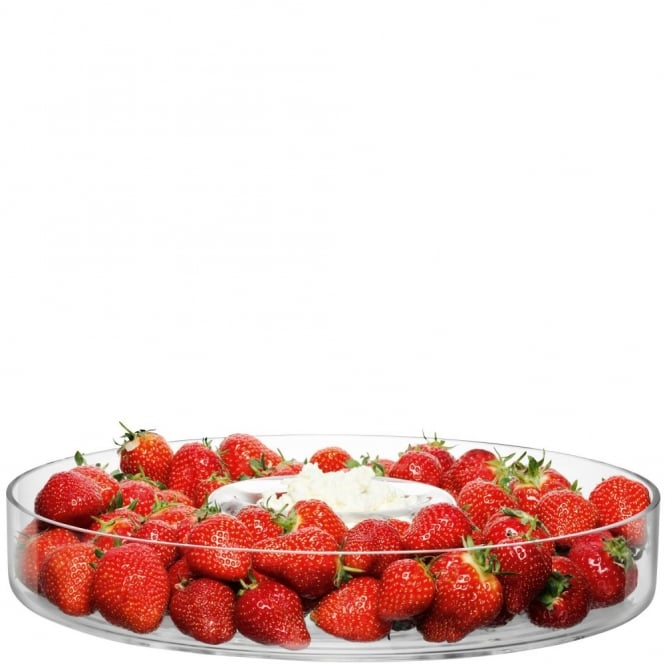 LSA International Serve Circle Platter 35cm Clear