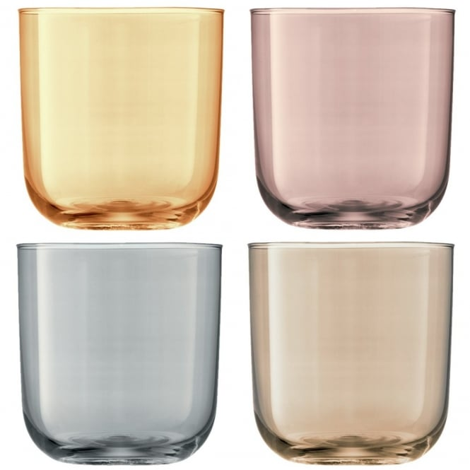 LSA International Set of 4 Polka Tumblers - Metallic