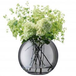 Spherical Polka Vase Sheer 24cm - Zinc