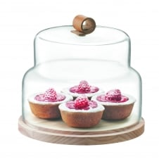 Utility Cheese & Cake Dome with Ash Base - 21cm