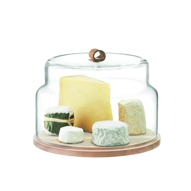 LSA International Utility Cheese & Cake Dome with Ash Base - 29cm