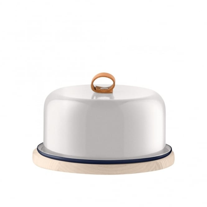 LSA International Utility Cheese Dome & Ash Base - Milk White