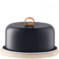 Utility Cheese Dome & Ash Base - Pepper Black