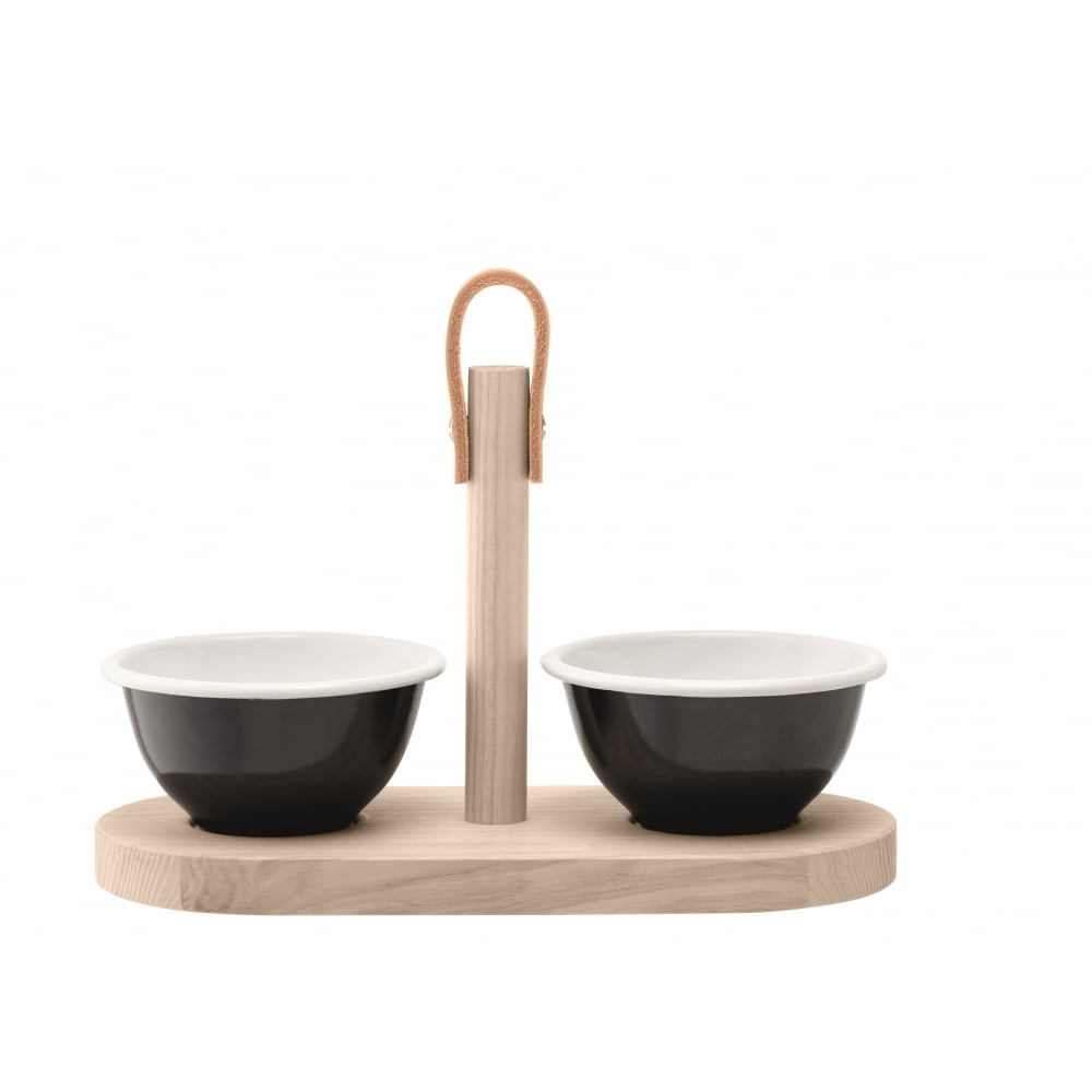 Utility tapas duo set with ash tray black pepper