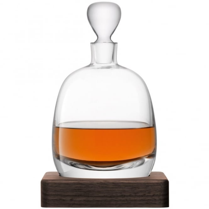 LSA International Whisky Islay Decanter on a Walnut Base - 1L