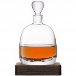 Whisky Islay Decanter on a Walnut Base - 1L