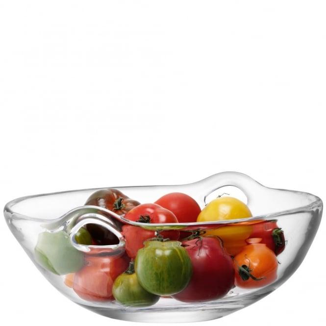 Lsa 36cm Ono Mouthblown Glass Fruit Salad Bowl Black By