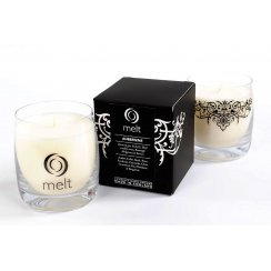 Luxury Hand Poured Scented Candle in a Glass Jar - Aubergine