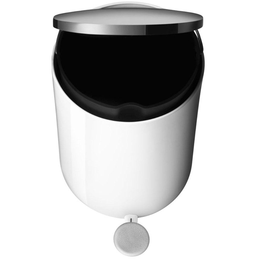 White Bathroom Bin menu 7l bathroom pedal bin | white | blackdesign