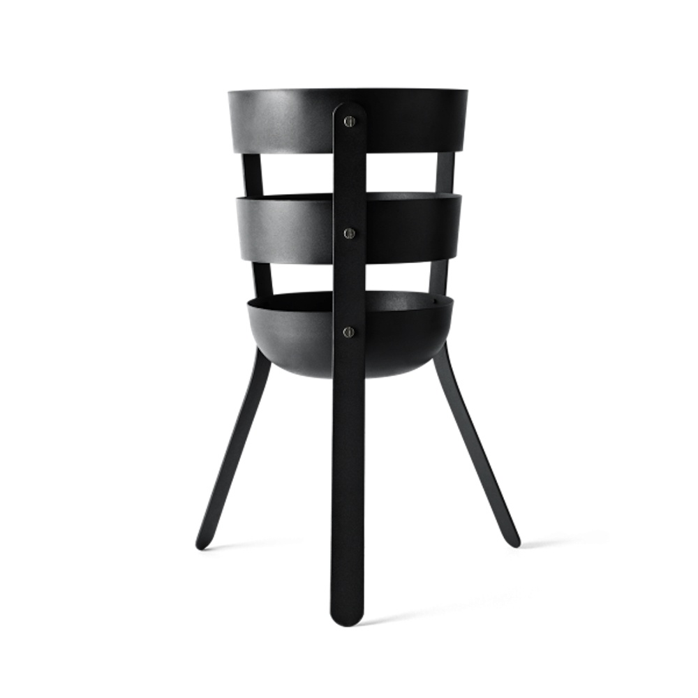 menu norm fire basket  black by design - fire basket designed by norm architects