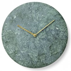 Marble Wall Clock - Green