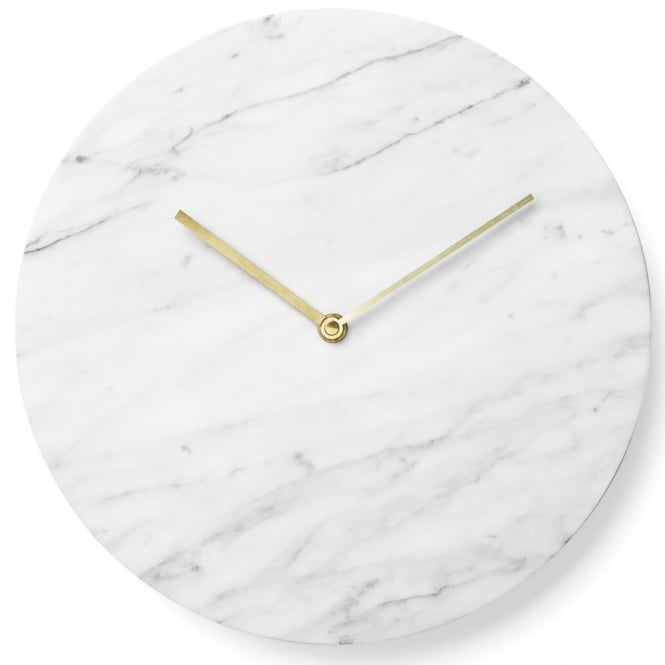Menu Marble Wall Clock - White