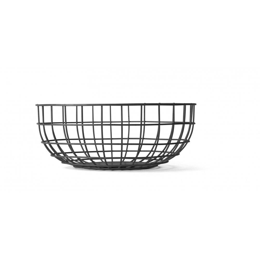 Wire Fruit Bowl | Menu Norm Wire Fruit Bowl Black Black By Design