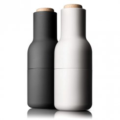 Small Bottle Grinders with Wooden Top - Set of 2 - Ash & Carbon