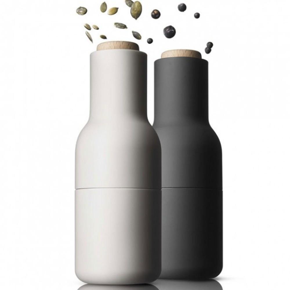 Avansert Menu Bottle Grinders | Wooden Tops | Ash/Carbon | Black by Design SM-74