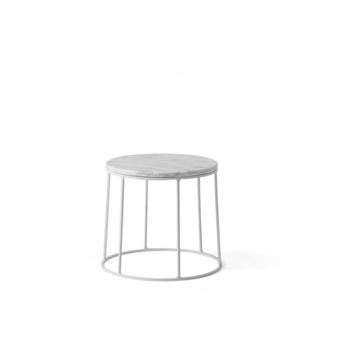 Menu Wire Series Marble Indoor/Outdoor Side Table - Small - White