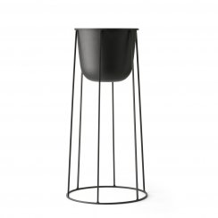 Wire Stand & Plant Pot - Large - Black