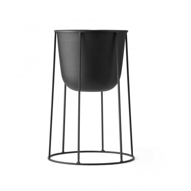 Menu Wire Stand & Plant Pot - Medium - Black