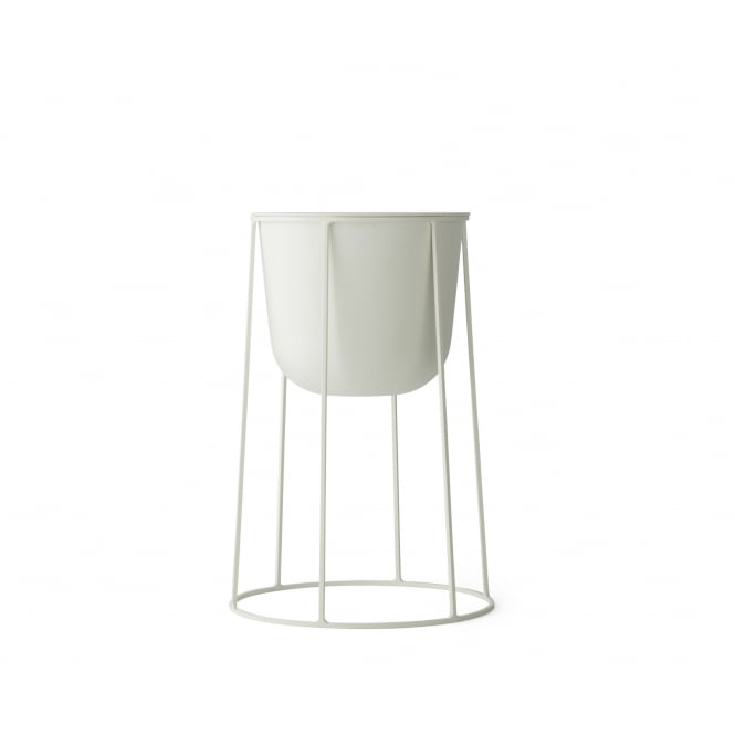 Menu Wire Stand & Plant Pot - Medium - White