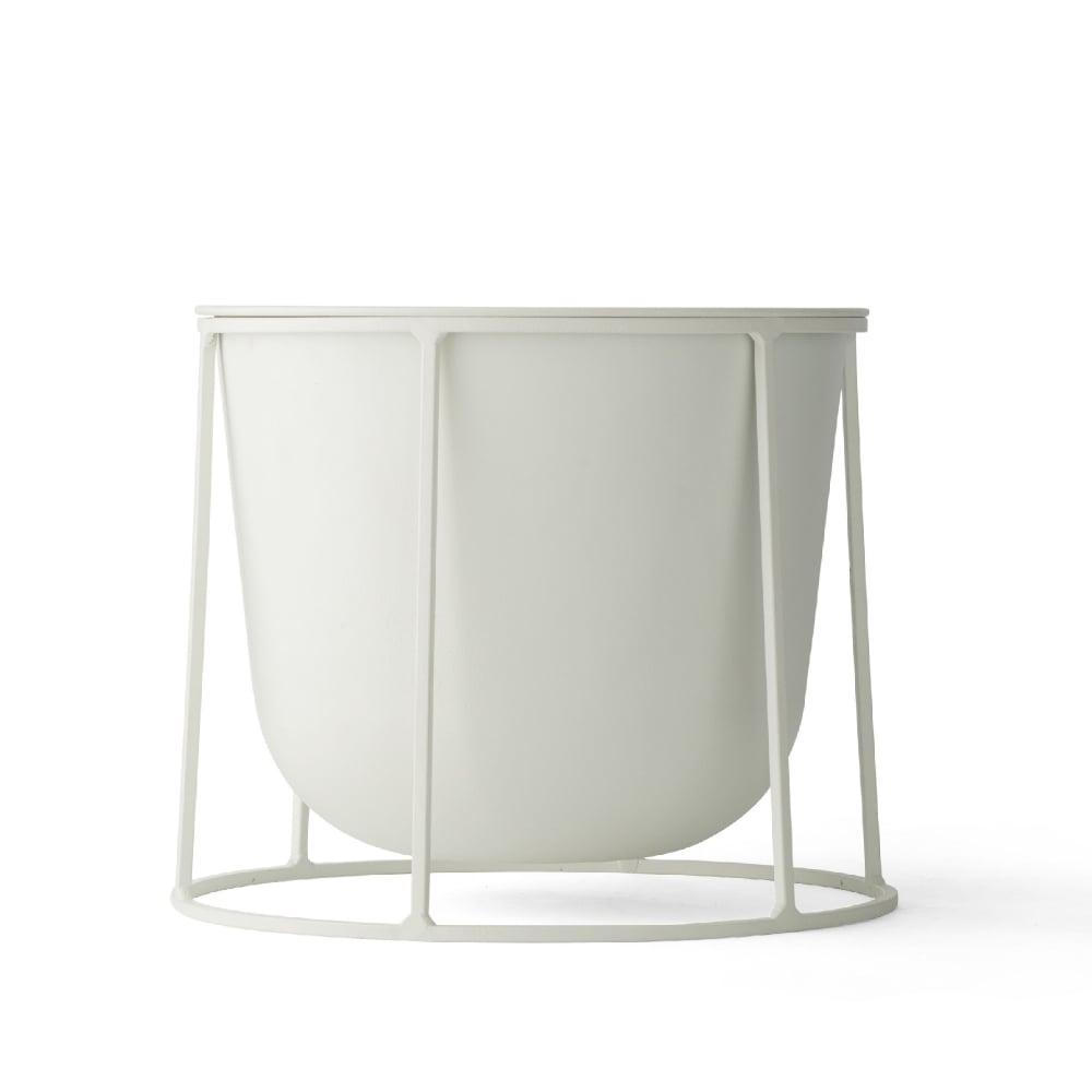 Small White Plant Pots Part - 40: Wire Stand U0026amp; Plant Pot - Small - White