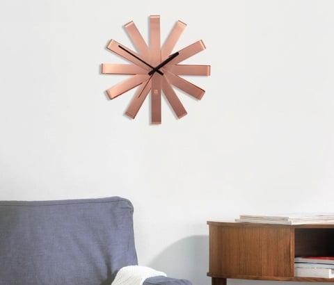 Umbra Ribbon Wall Clock - Copper