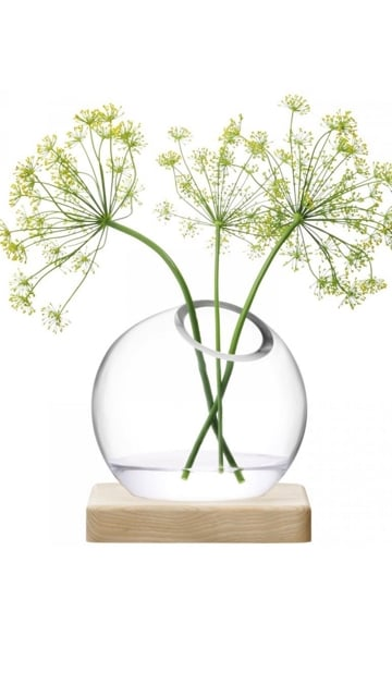 LSA Axis Vase - Clear