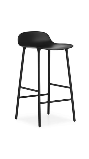 Normann Copenhagen Form Bar Stool - Black