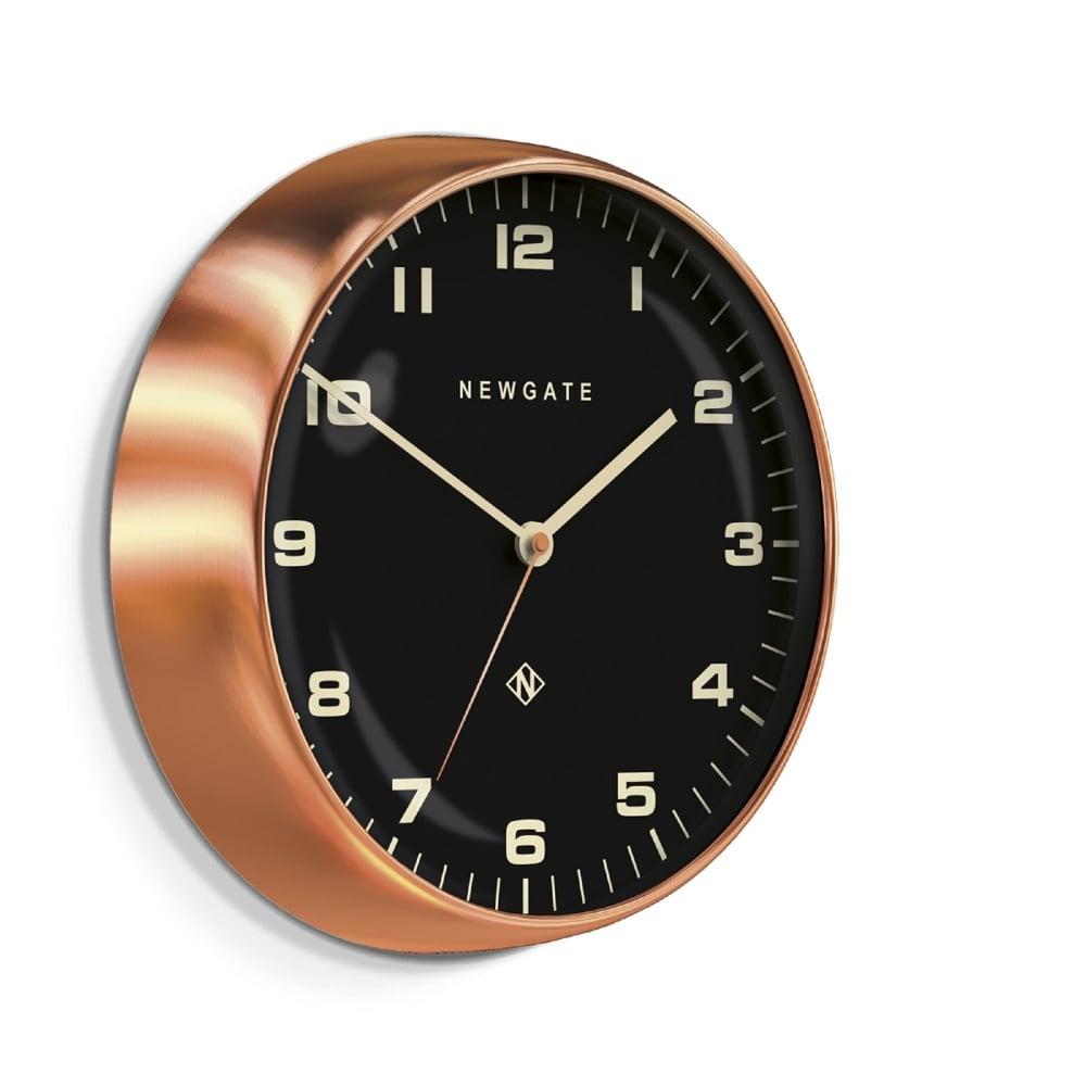 Newgate Chrysler Wall Clock Radial Copper 40cm Black