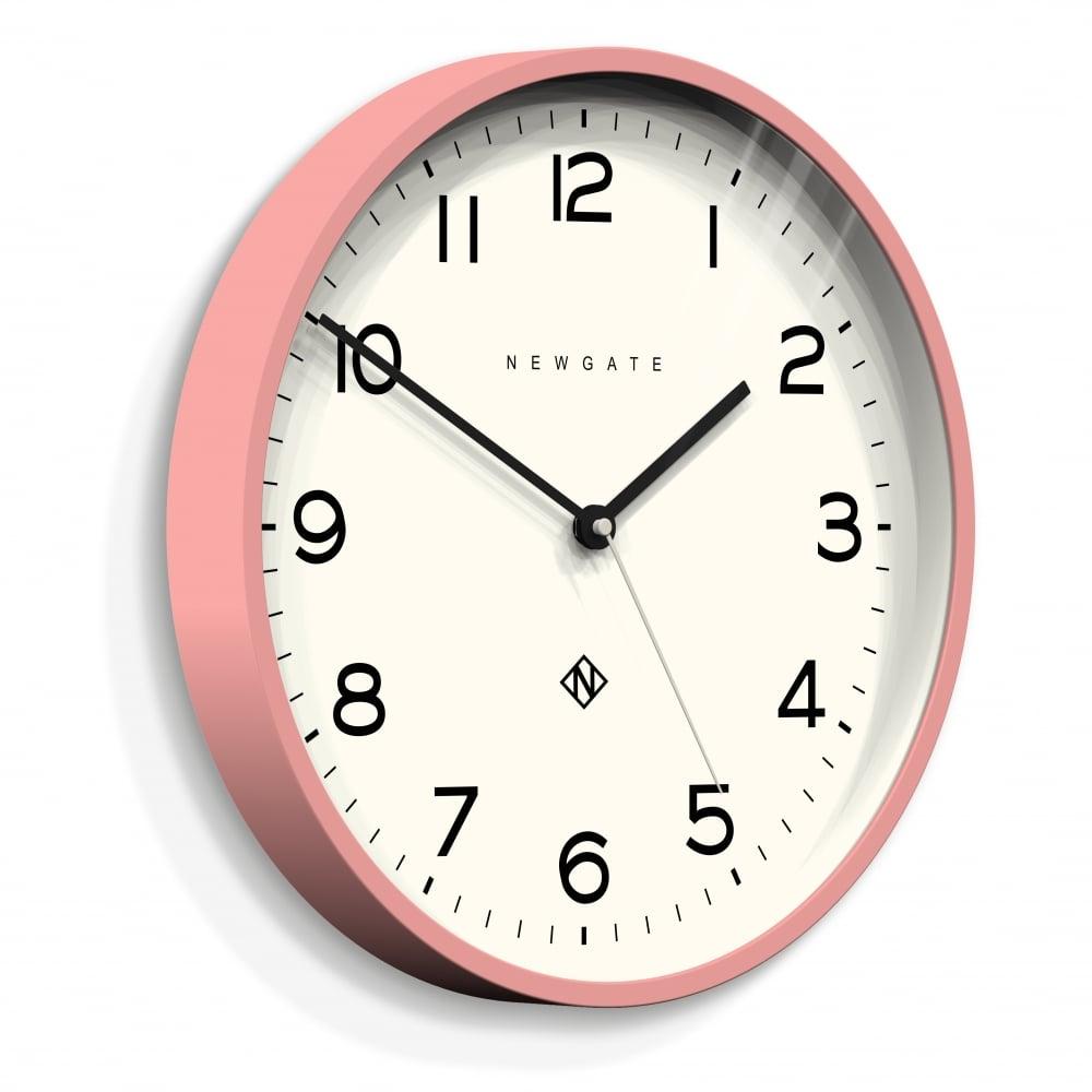 Newgate Echo Number Three Wall Clock Pink 37cm