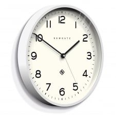 Echo - Number Three Wall Clock - Pebble White - 37cm