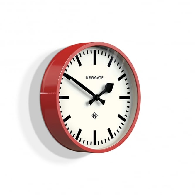 Newgate Luggage Wall Clock - Red