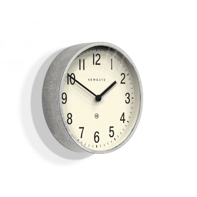 Newgate Master Edwards Wall Clock - Galvanised Steel - 30cm