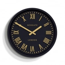 Power Station Indoor/Outdoor Wall Clock - Matte Petrol Blue
