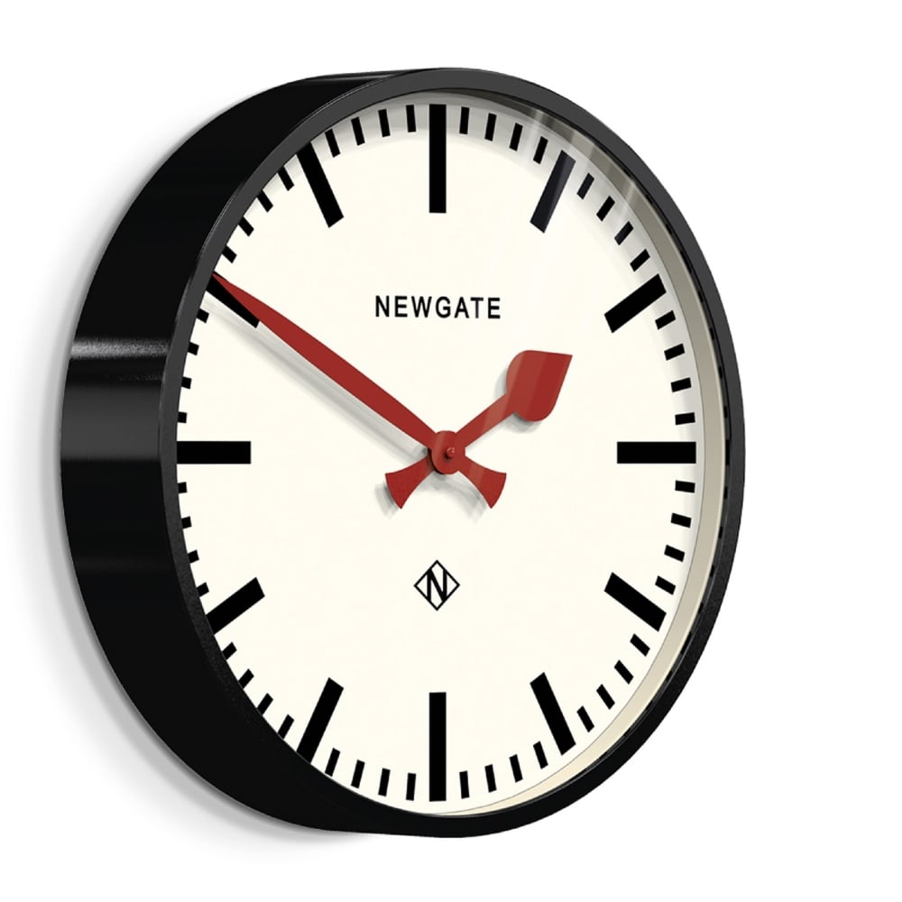 Newgate Putney Wall Clock Black Black By Design